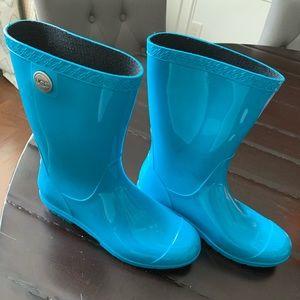 Basically NWOT Ugg Rainboots 8 Turquoise